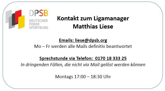 Kontakt zum Ligamanager Matthias Liese